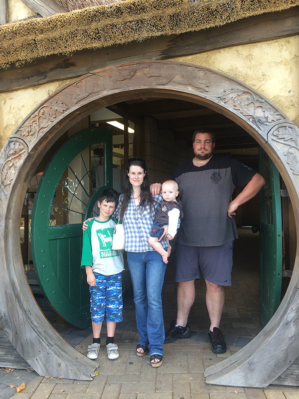 Low cost webdesign in NZ - My family - Matamata Hobbiton Door
