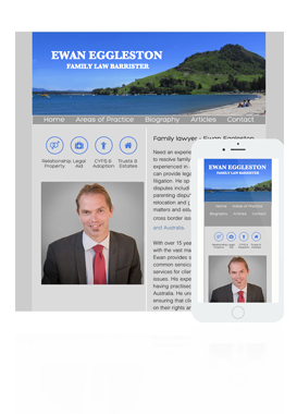 New Zealand affordable web design - Featured website - Tauranga Lawyer