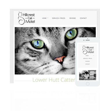 New Zealand affordable web design - Featured website - Wellington Cattery