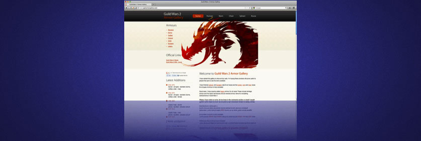 Feature Site - Guild Wars 2 Armor Gallery