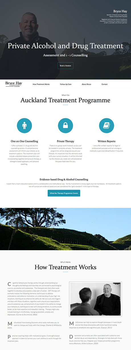 Small Business Webdesign Peregrine Web - Portfolio - Bryce Hay Counsellor
