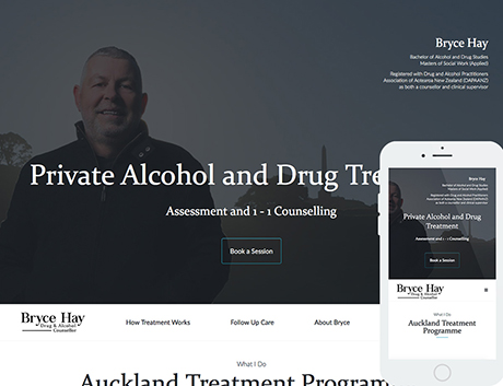 Affordable NZ Webdesign Peregrine Web - Recent Works - Bryce Hay Counsellor