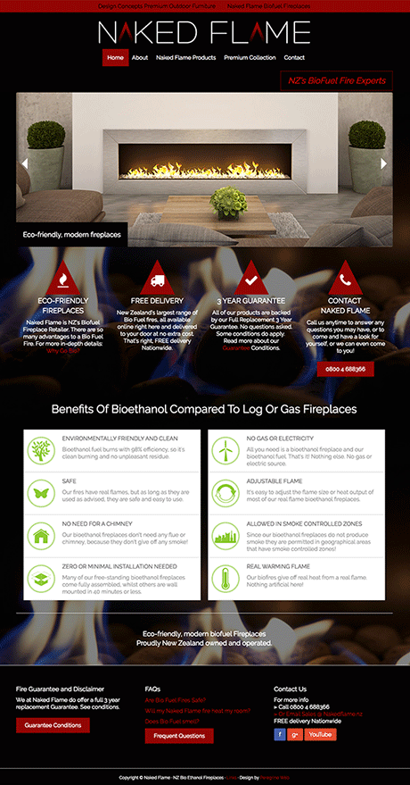 Small Business Webdesign Peregrine Web - Portfolio - Naked Flame