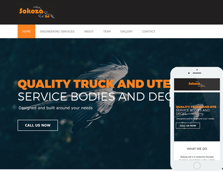 Affordable NZ Webdesign Peregrine Web - Recent Works - Sokoza
